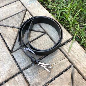 NWT Michael Kors Black Synthetic Leather Belt